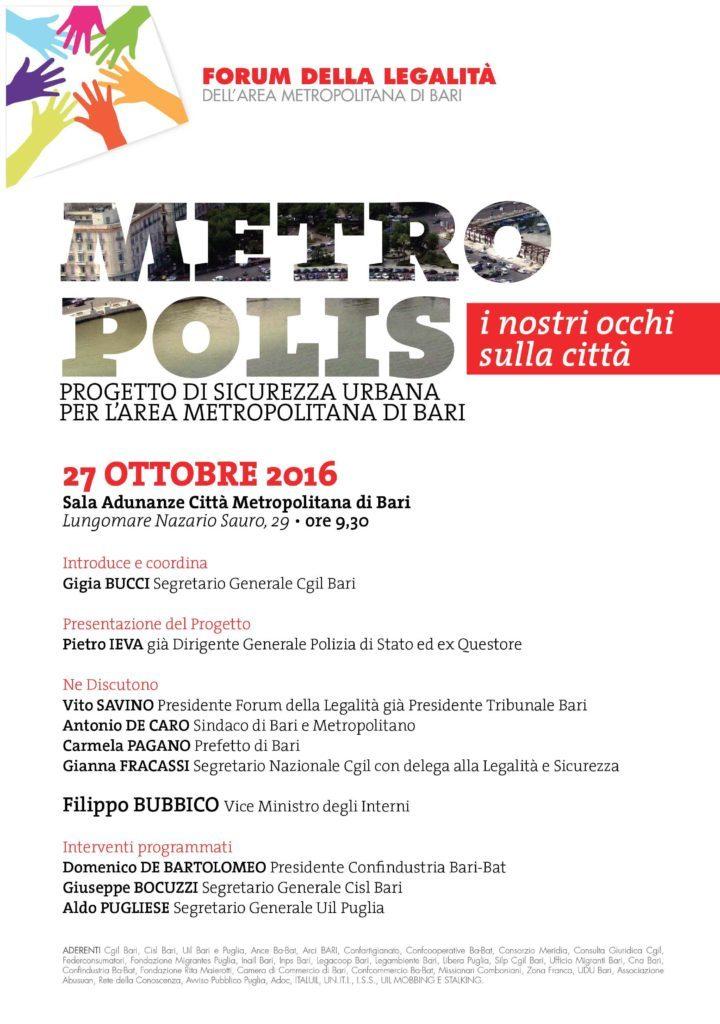 27 ottobre 2017 - presentazione del progetto Metropolis